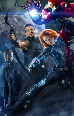 Hawkeye and Black Widow / Clint (Jeremy Renner) and Natasha (Scarlett Johansson)