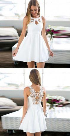 c7baaa1583 Idées et Tendances chaussure 2017 Image Description simple white homecoming  dresses