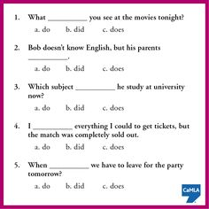 """The auxiliary verb """"do"""" is very important in English grammar. How well do you know when to use do, does, or did? Try this quiz to find out!"""