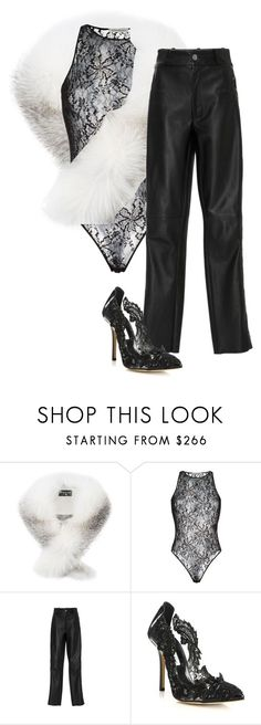 """""""yeah"""" by abitchizcreative ❤ liked on Polyvore featuring Harrods, Faith Connexion and Oscar de la Renta"""