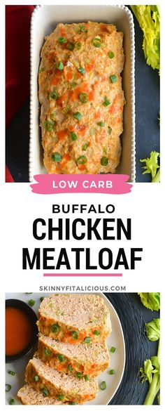 Healthy Buffalo Chicken Meatloaf a lower carb recipe packed with flavor and veggies. Healthy Buffalo Chicken Meatloaf a lower carb recipe packed with flavor and veggies. Low Carb Chicken Recipes, Paleo Recipes, Low Carb Recipes, Paleo Food, Keto Chicken, Ketogenic Recipes, Healthy Chicken, Paleo Diet, Ketogenic Diet