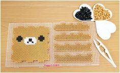 Rilakkuma box perler beads by Peggy Wu