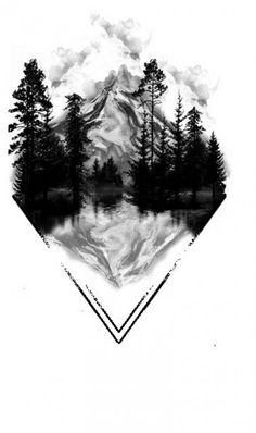 Most Recent Photos Mountain Tattoo Reflections, Geometric Tattoo, Geometric Tattoo . Wolf Tattoos, Up Tattoos, Trendy Tattoos, Tatoos, Octopus Tattoos, Animal Tattoos, Small Tattoos, Natur Tattoo Arm, Natur Tattoos