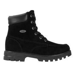 Lugz Men's Howitzer Water Resistant Lace Up Boots (Black Thermabuck)
