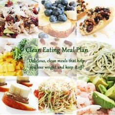 Click pin for daily Clean Eating Meal Plan and recipes that help you keep on track of a clean eating diet plan and lose weight in a week! #fitfam #weightloss #cleaneating #eatclean #healthyrecipes by charity