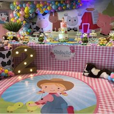 Festa Fazendinha: 140 imagens para você se apaixonar pelo tema Farm Animal Birthday, Farm Theme, Birthday Party Themes, Margarita, Ideas Para, Princess Peach, Projects To Try, Baby Shower, Pink
