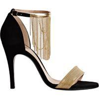 Lanvin Chain-Embellished Ankle-Strap Sandals at Barneys.com