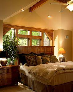 Master Bedroom of Lindal Cedar Home in New Jersey