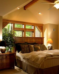 Master Bedroom Of Lindal Cedar Home In New Jersey