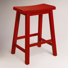 A classic stool at an affordable price, our Red Schoolhouse Counter Stool was created for versatility. The clean lines and sturdy construction include a seat curved for comfort and rails to rest your feet on.