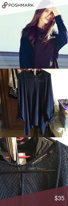 Brandy Melville navy Louise cardigan Oversized fit Brandy Melville Sweaters Cardigans