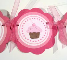 Cupcake Themed Birthday Party Sign  I am 1 by getthepartystarted, $10.00