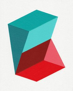 Giclee print  Prisms  12 x 15 modern geometric by magnapaint, $25.00