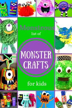 Monstrous List of Monster Craft for Kids-Preschool crafts for Halloween, Letter M or a Monster Theme