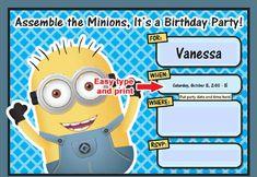 Free Editable Minion Birthday Invitations Invitation Templates