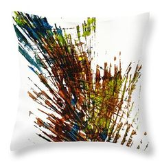Throw Pillow featuring the painting Intensive Abstract Expressionism Series 72.102511 by Kris Haas