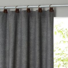 Nelson Tweed Look Wool Mix Curtain with Leather Tabs  AM.PM. : price, reviews and rating, delivery. A thick, heavyweight and insulating tweed look wool mix curtain with leather tabs that will warm up your windows for a very cosy result. Eight leather tabs with metal rings. Width 150 cm. 4 heights. Dry clean only. 50% wool, 50% polyester.