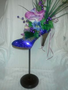 Shoe centerpiece by Designs by CJ