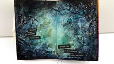 Art Journal Page - Texture and Spray Inks