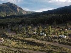 Mammoth Campground and Bunsen Peak