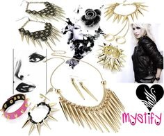"""Mystify London Jewellery and Accessories - Punk Rock Collection"" by mystify-london on Polyvore"