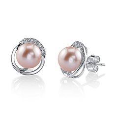 e0f3eea04 8mm Freshwater Cultured Pearl & Crystal Johnson Earrings. I Love JewelryWomen's  JewelryPearl JewelryJewelry SuppliesCrystal EarringsDiamond ...