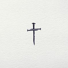 Small Tattoos Men, Small Cross Tattoos, Cross Tattoos For Women, Simple Mens Tattoos, Simple Cross Tattoo, Little Cross Tattoos, Pretty Cross Tattoo, Cross Tattoo Men, Feminine Cross Tattoo