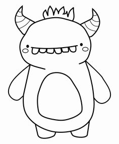 Monster Coloring Pages for Kids. 20 Monster Coloring Pages for Kids. Halloween Coloring Pages Disney Coloring Pages, Colouring Pages, Printable Coloring Pages, Free Coloring, Coloring Pages For Kids, Kids Coloring, Coloring Books, Doodle Monster, Monster Drawing