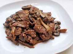Easy Stir-Fried Beef With Mushrooms and Butter Recipe