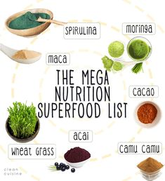 The Mega Nutrition Superfood List (and Smoothie Recipe!)