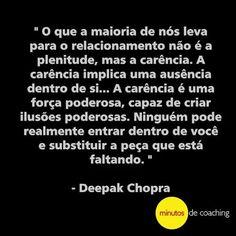 Fato!!!! #minutosdecoaching #coachingpararelacionamentos #coaching #autocontrole #autoestima #relacionamentos #plenitude #carência #DeepakChopra