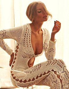 1970 - I knitted one of these, then - with a few less holes (of course)