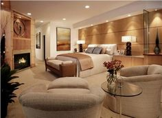 Elegant Contemporary Bedroom by Lisa Turner