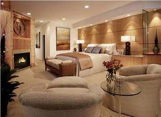 Elegant Contemporary Bedroom by Lisa Turner