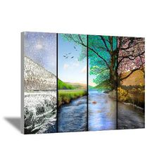 Four seasons canvas wall art Photo Projects, Art Projects, Four Seasons Art, Four Seasons Painting, Canvas Wall Art, Canvas Prints, Beautiful Artwork, Painting Inspiration, Amazing Art
