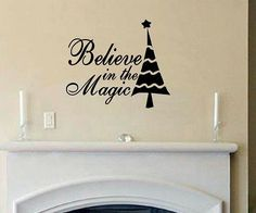 vinyl wall decal quote Believe in the Magic por WallDecalsAndQuotes