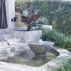 Match Fountain Materials to Landscape