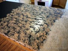 Faux Granite Countertop Paint Diy : Countertop makeover- stages of faux marble countertop paint. Great for ...
