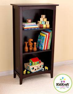 Kid Kraft Avalon Tall Bookshelf- Espresso - 14043