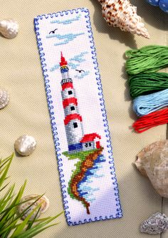 123 Cross Stitch, Cross Stitch Bookmarks, Cross Stitch Needles, Beaded Cross Stitch, Counted Cross Stitch Patterns, Cross Stitch Embroidery, Embroidery Hoop Crafts, Embroidery Patterns, Handkerchief Embroidery