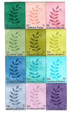 Distress Ink Swatches