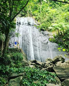 AWSOME picture except for the two randoms that got in my shot lol #waterfall #waterfalls #puertorico #adventure #family #familia #outreach #ywam #rainforest #carribean #randoms #photobomb by eric_j215 http://bit.ly/dtskyiv #ywamkyiv #ywam #mission #missiontrip #outreach