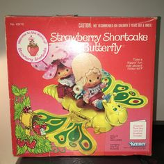 VINTAGE 1981 Strawberry Shortcake BUTTERFLY Flitter-bit TOY Complete with box #Kenner #PetsAnimals