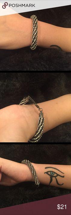 Gorgeous! Rhinestone Bracelet Stunning White Rhinestone Bracelet Jewelry Bracelets