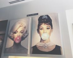 I've never seen the Hepburn one! I don't know that I could see her blowing a gum bubble but they are too cute!!!