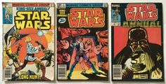 STAR WARS King-Size Annuals #s 1, 2, and 3 Full Set VG+ to FN+ Marvel Comic Books Lot 1979-83