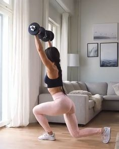 Workout at Home With Dumbbells – Fitness&Health&Gym For Women Fitness Workouts, At Home Workouts, Core Workouts, Insanity Workout Videos, Inner Leg Workouts, Morning Ab Workouts, Dance Workout Videos, Gym Workouts Women, Exercise Videos