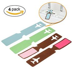 Luggage Tag Aieve 4 Pack Colorful Cruise PU Leather Tags Luggage Tag Personalized Holders Airport Tag Set for Travel Suitcase Tag Ship Cruises ** You can find out more details at the link of the image. (This is an affiliate link) #TravelFanShop