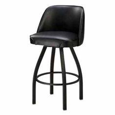 Regal Bucket Seat 26 in. Black Cone Metal Counter Stool Buckskin
