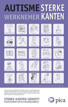 autisme : Poster Autisme Sterke kanten - werknemer